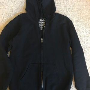 Men's American Rag black zip up hoodie. In GUC